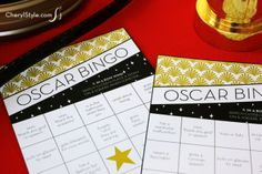 download our printable Oscars bingo game for your red carpet party   CherylStyle.com