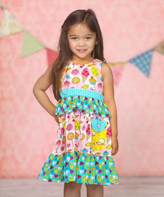 Look at this #zulilyfind! Pink & Blue Cream Candy Taryn Dress - Infant, Toddler & Girls by Jelly the Pug #zulilyfinds