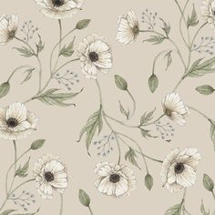 Finch & Fleur, paper goods, poppy pattern, pattern design, botanical pattern, floral pattern , floral wallpaper, floral gift wrap, botanical illustrations, botanical watercolor, watercolor flowers, flower illustrations, botanical design.