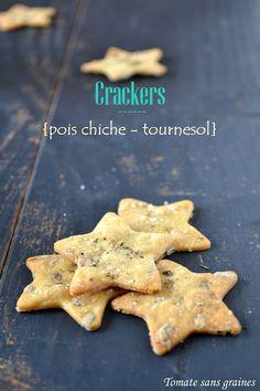 Tomate sans graines: Crackers pois chiche-tournesol