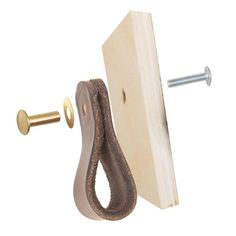 Use this extra hardware kit to install your leather drawer pulls flat instead of folded over, as shown in the last picture, or as a back-up set of hardware. Creates a second connection for our Fremont and Hawthorne leather drawer pulls: Vintage Airstream, Interior Design Magazine, Kitchen Collection, Cabinet Handles, Wood Cabinets, Ikea Hack, Leather Handle, Diy Leather Drawer Pulls, Leather Tray