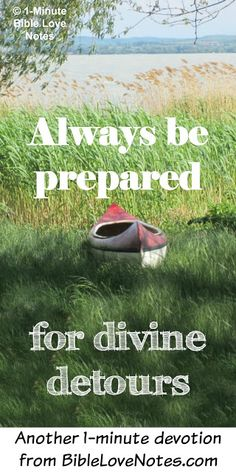"""This 1- minute devotion will encourage you to take """"interruptions"""" in stride because they are often divine appointments."""