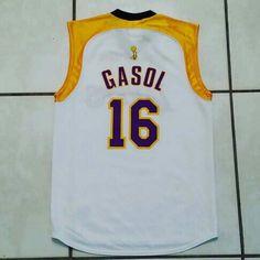 Rare MAJESTIC Los Angeles Lakers Pau Gasol 2008 NBA Finals Jersey #jerseys#nba#basketball#paugasol#losangeleslakers#lakernation#ebay#ebayseller