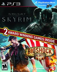 The Elder Scrolls V Skyrim  Bioshock Infinite Greatest Hits Bundle  PlayStation 3 ** Check this awesome product by going to the link at the image. Note:It is Affiliate Link to Amazon.