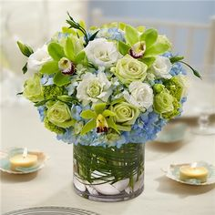 1-800-FLOWERS® BEACH WEDDING CENTERPIECE | The Blue Orchid Flowers in Richmond Michigan