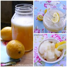 DIY Lemonade Concentrate - Simple Life Abundant Life Free of refined sugars, this honey-sweetened lemonade concentrate can be used to make a quick and delicious real food lemonade at a moments notice, or toss some into your ice cream maker for a delicious slush the whole family will love.