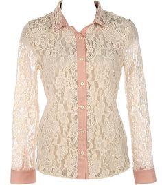 8befe4839760b lace blouse Blouse Vintage