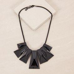 Enamel Architectural Fan Short Necklace