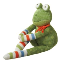 Sock Monkey Doll - Fritz Frog Doll, medium
