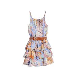 GUESS by Marciano Printed Chiffon Halter Dress