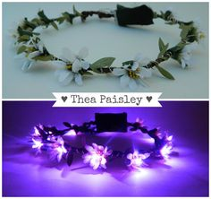 Light up flower crown EDC Daisy LED Halo in Purple by theapaisley