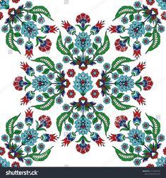 Ottoman iznik tile design with tulip flowers. Retro background for wallpaper, backdrop, home textile, curtain fabric. Retro Background, Background Patterns, Arabic Pattern, Arabic Design, Pattern Design, Tile Design, Tulips Flowers, Islamic Art, Home Textile