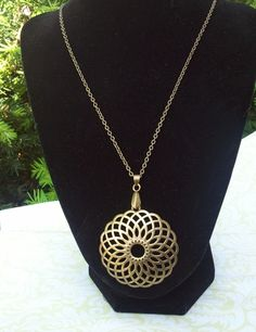 """Bronze Burst"" necklace"