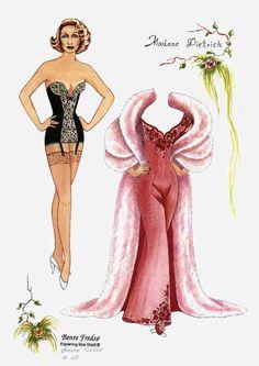 Bente Fredso paper doll of Marlene Dietrich 1