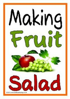 With a title page here is a set of 14 colorful printables showing a range of fruits that could be used as ingredients for a fruit salad. Great for discussion before, during and after making fruit salads as well as for a display! Visit our TpT store for more information and for other classroom display resources by clicking on the provided links.