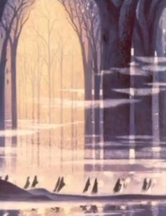 Love this mood. Have to use it someplace. Darkness and Light - Kay Nielsen art for Fantasia's Night on Bald Mountain and Ave Maria (1940)