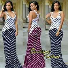 Women V Neck Casual Summer Dresses Sleeveless Striped Maxi Clubwear Party Dress Black Party Dresses, Striped Maxi Dresses, Summer Dresses, Summer Maxi, Sun Dresses, Summer Sun, Casual Summer, Spring Summer, Chic Couture Online