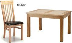 Originals Portland Dining Set - Medium Extending with 6 Chairs #Diningset