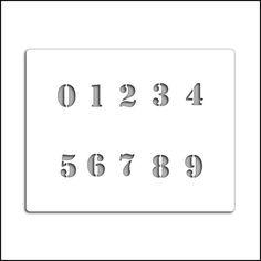 Pochoir chiffres (n°133)