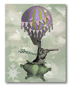 Navigating Rabbit Wrapped Canvas #zulily #zulilyfinds