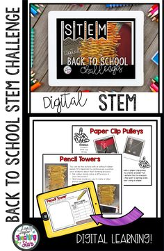 Looking to start the school year off with fun STEM Activities? Back to School STEM Challenges Bundle is a packet of activities your students will love as they problem solve and think critically! These activities will engage your students as they unleash their imagination. Connecting important skills such as collecting data, making observations, and measurement skills.