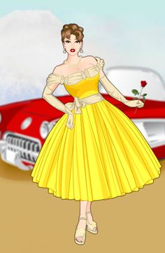 Disney Characters in the 50's - Belle