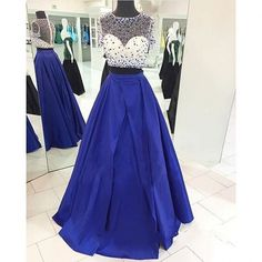Find More Prom Dresses Information about Trendy Royal Blue Two Pieces Prom…