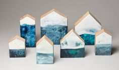 Michelle Trahan Carson encaustic art, reclaimed wood Architecture Geometric, Encaustic Art, Mixed Media Artists, Collage Art, Wood, Woodwind Instrument, Timber Wood, Trees