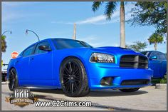 Matte Blue Pearl Charger