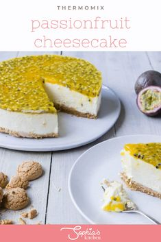 This Thermomix passionfruit cheesecake is the perfect dessert. It is so quick to prepare and the cake base is made with the tastiest Italian biscuits. Fruit Recipes, Sweet Recipes, Dessert Recipes, Passionfruit Cheesecake, Italian Biscuits, Quirky Cooking, Yellow Foods, Best Bread Recipe, Thermomix Desserts