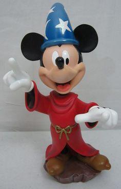 "Sorcerers Apprentice Mickey Mouse Fantasia Walt Disney World Bobble Head 9"""