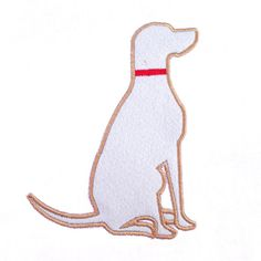 Dog lovers, rejoice!  This dog applique is perfect for the dog lover in your life
