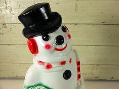 Vintage Blow Mold Light Up Snowman Empire by buckeyesandbluegrass