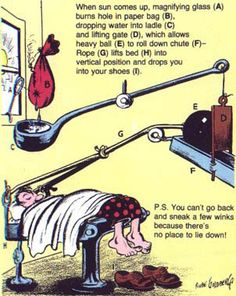 Rube Goldberg - How to get yourself out of bed :)