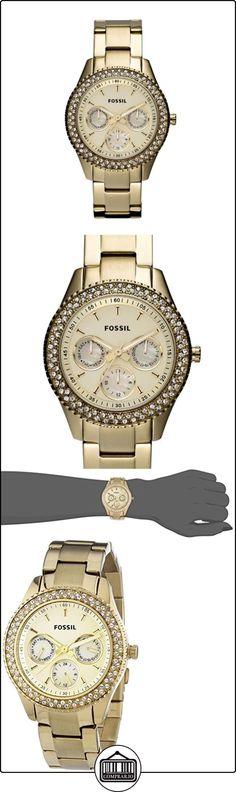 Fossil Stella Multifunktion ES3101 - Reloj analógico de cuarzo para mujer, correa de acero inoxidable chapado color dorado (agujas luminiscentes) ✿ Relojes para mujer - (Gama media/alta) ✿