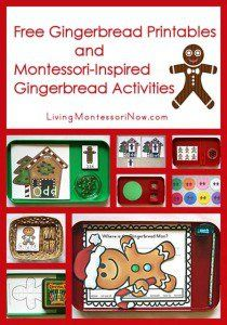 Free Gingerbread Printables and Montessori-Inspired Gingerbread ...