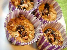 Nečekaně dobré muffiny z pohankových vloček. Bez cukru, bez mléka, bez lepku. Gluten Free Baking, Quinoa, Vegetarian, Sweets, Breakfast, Recipes, Food, Cupcakes, Fitness