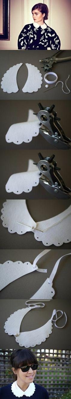 comment réaliser un faux col claudine, projet diy pour un simple accessoire