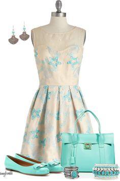 """Seashell Dress 2"" by amybwebb ❤ liked on Polyvore"