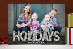 Glitter Christmas Photo Cards by jen soll | Minted