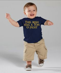This Irish Has A Ton 'O Fight  Child's Tee or Onesie by DivinusTs