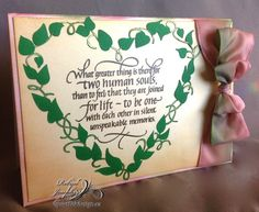 Leafy Heart Frame/ What greater thing