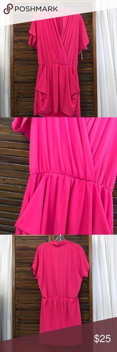 Rachel Roy dress Rachel Roy pink dress. V-neck with pockets. Short sleeve. Cinches at waist. Like new. Rachel Roy Dresses