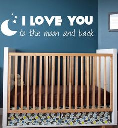 Nusery Decor I Love You to the Moon and Back Vinyl by NewYorkVinyl, $15.45