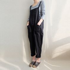 Casual Linen Comfortable Loose Baggy Solid Wide Leg Waist Tie Harem Trousers TRENDINAO Womens Harem Yoga Pants