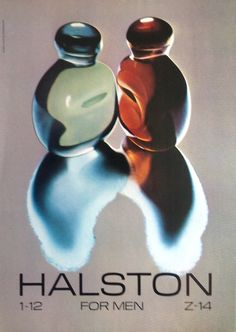 Halston for him in bottles designed by Elsa Peretti