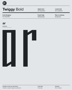 Twiggy font by frank Vogt for Fontwerp