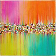 Paysage abstrait peinture Original peinture par MilaSchoeneberg
