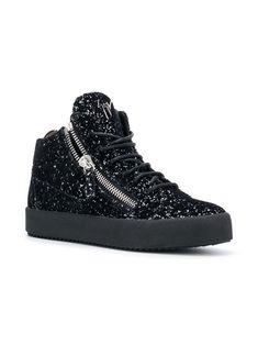9a7a2968343 Giuseppe Zanotti Design Kriss Glitter Sneakers - Black
