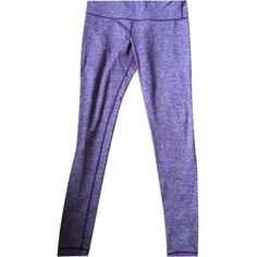 Pre-owned Lululemon Wunder Under Pant Static Plum Leggings ($150) ❤ liked on Polyvore featuring pants, leggings, static plum, legging pants, plum pants, lululemon pants, purple leggings and purple pants